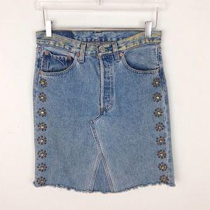 Levi's Streets Ahead Custom Mini Jean Skirt 27